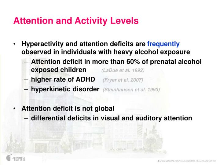 Attention and Activity Levels