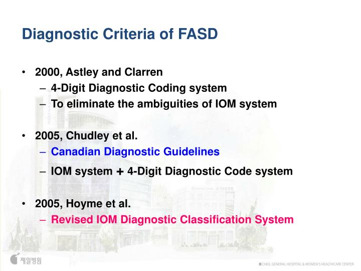 Diagnostic Criteria of FASD