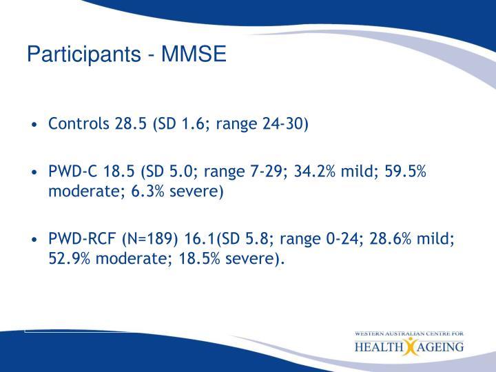 Participants - MMSE