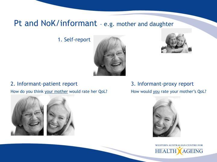 Pt and NoK/informant