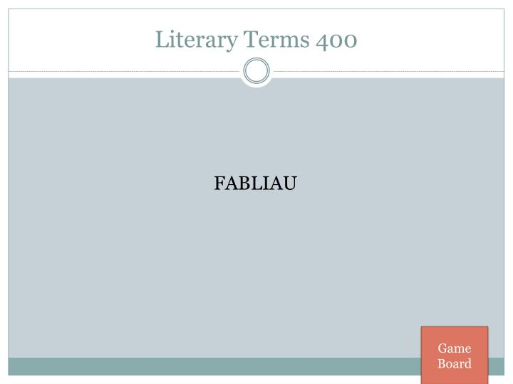 Literary Terms 400