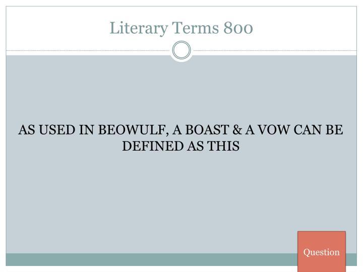 Literary Terms 800