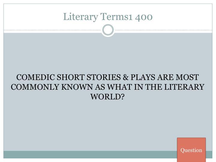 Literary Terms1 400