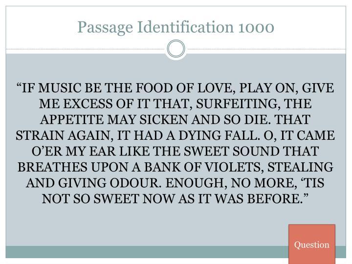 Passage Identification 1000