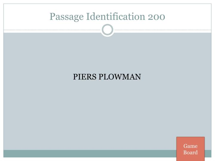 Passage Identification 200