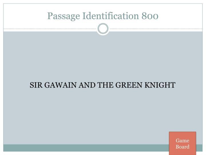 Passage Identification 800