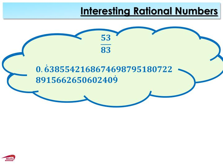 Interesting Rational Numbers