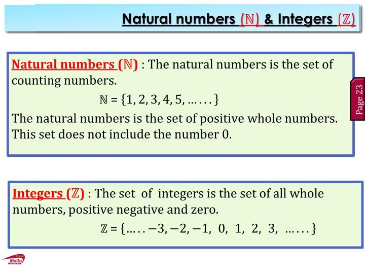Natural Numbers (N)
