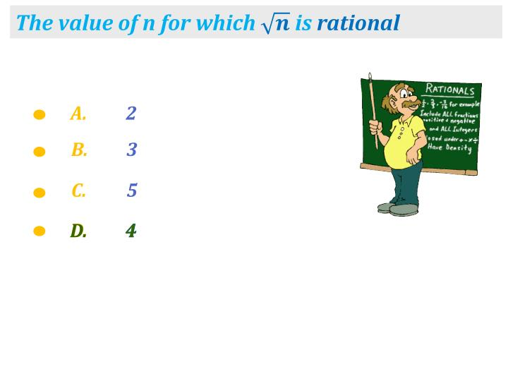 The value of n for which