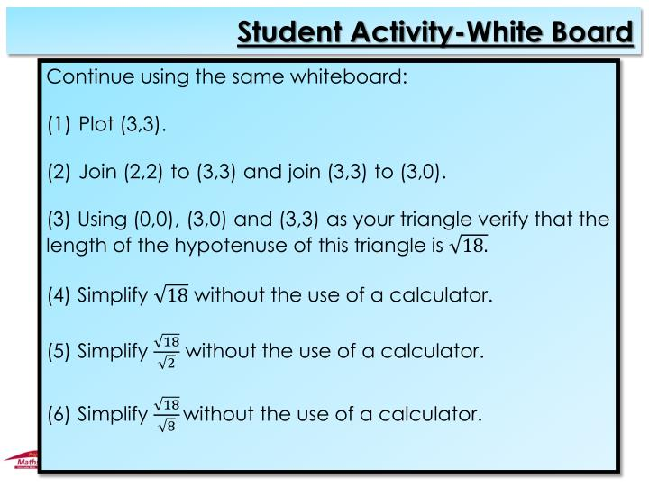 Student Activity-White Board