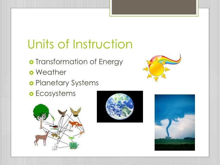 Units of Instruction