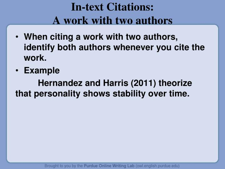 In-text Citations: