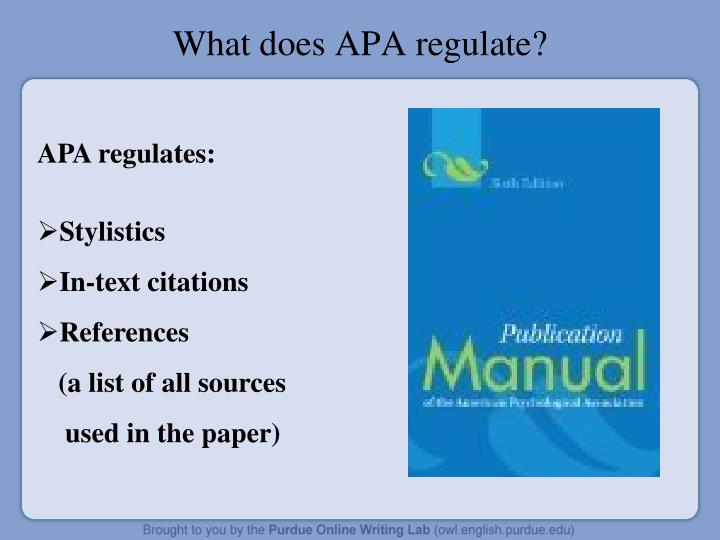 What does APA regulate?