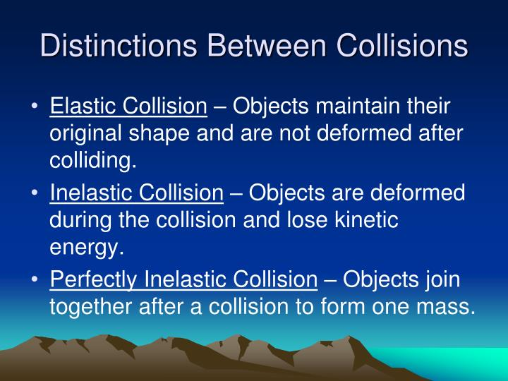 how to create a perfectly inelastic collision