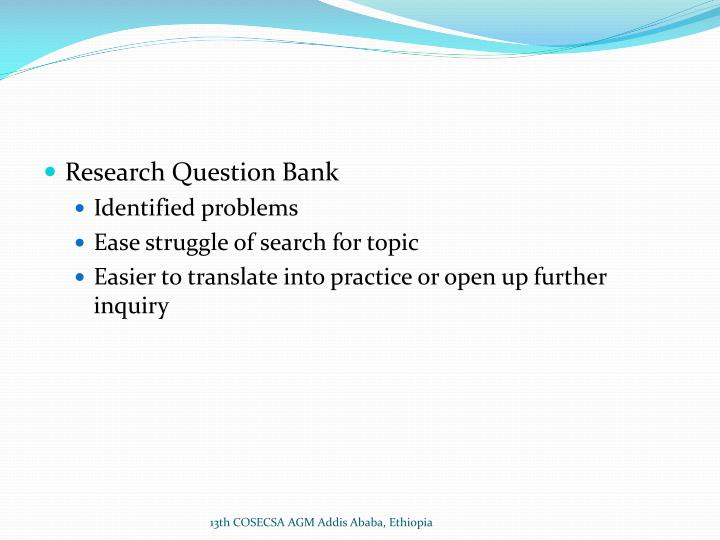 Research Question Bank