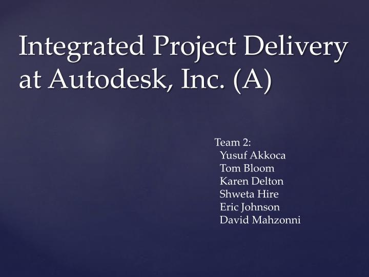 Integrated Project Delivery at