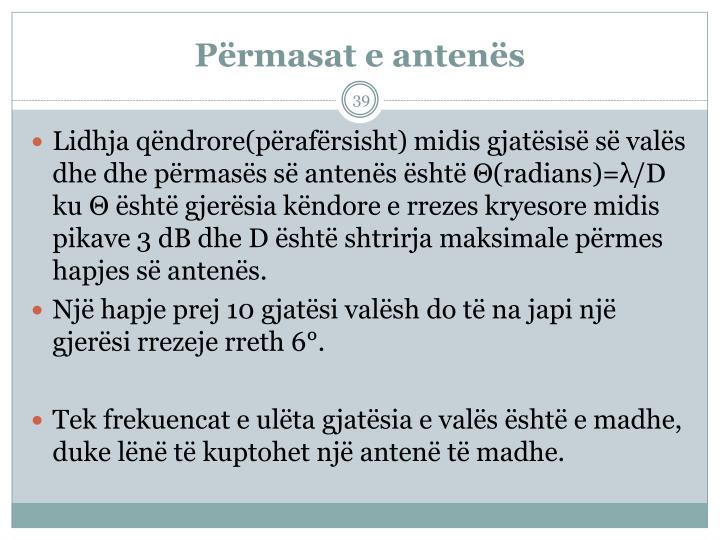 Prmasat e antens