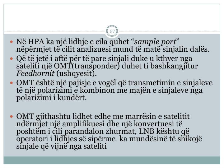 N HPA ka nj lidhje e cila quhet