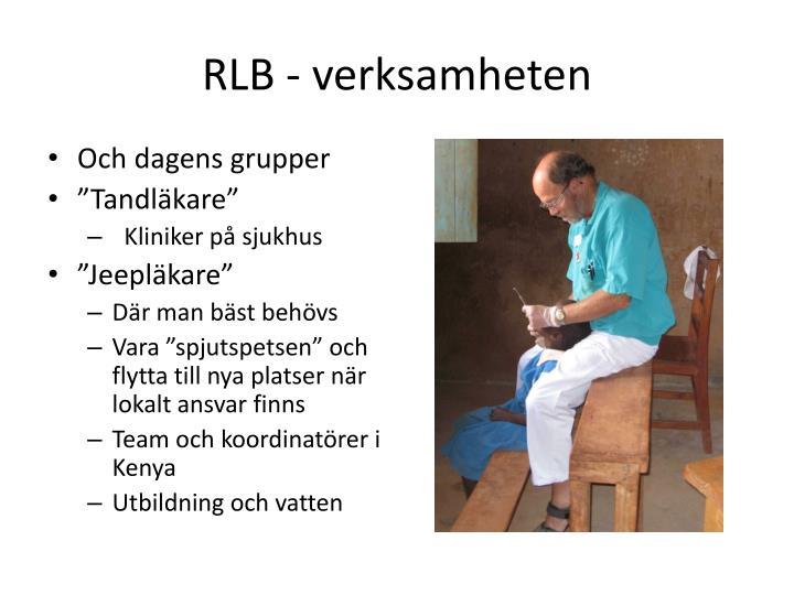 RLB - verksamheten