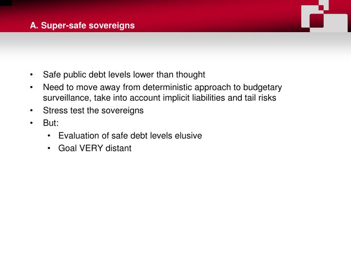 A. Super-safe sovereigns