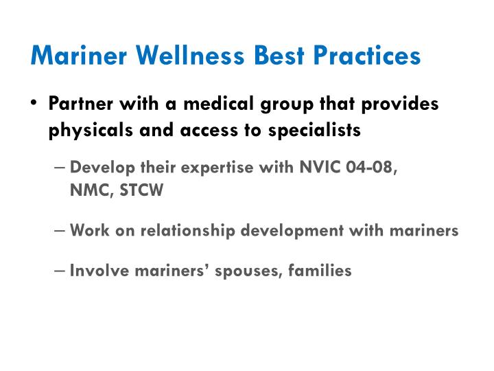 Mariner Wellness Best