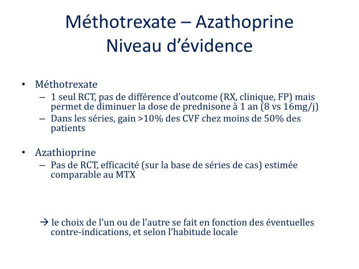 Méthotrexate – Azathoprine