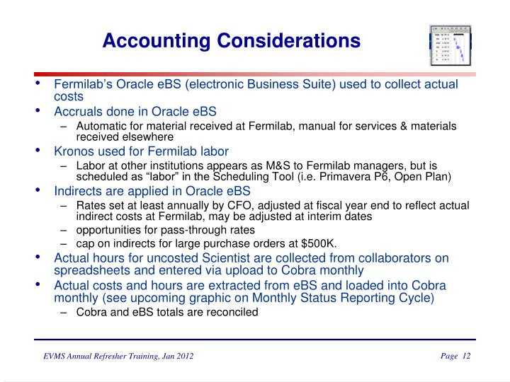 Accounting Considerations