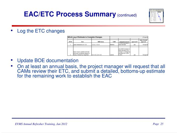 EAC/ETC Process