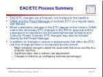 eac etc process summary