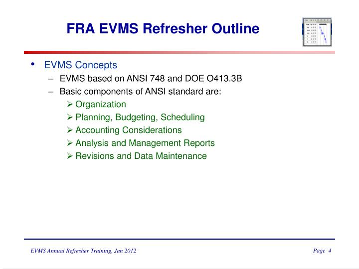 FRA EVMS Refresher Outline