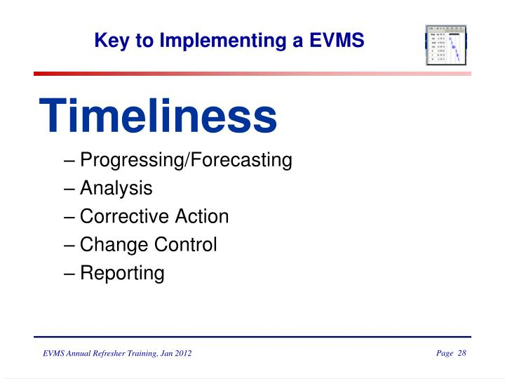 Key to Implementing a EVMS