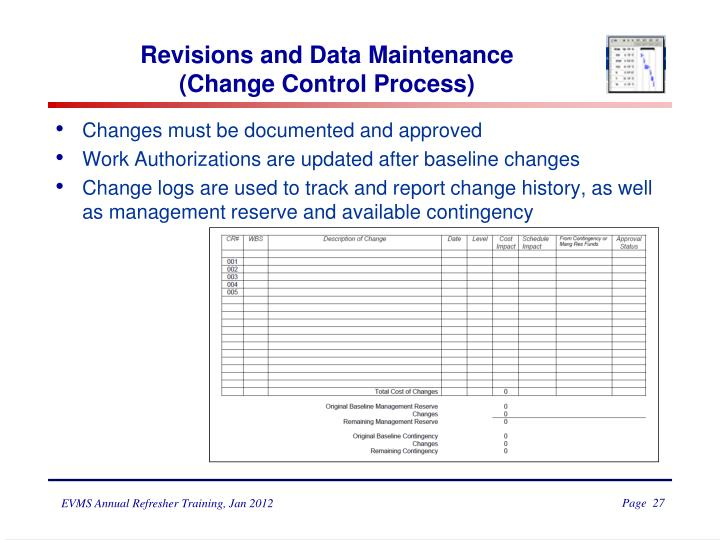 Revisions and Data Maintenance
