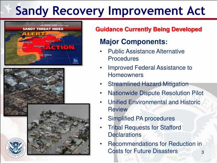 Sandy Recovery Improvement Act