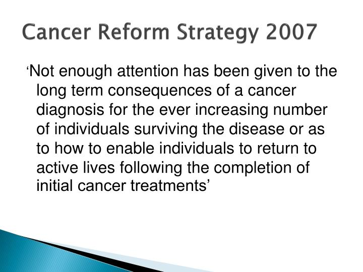 Cancer Reform Strategy 2007