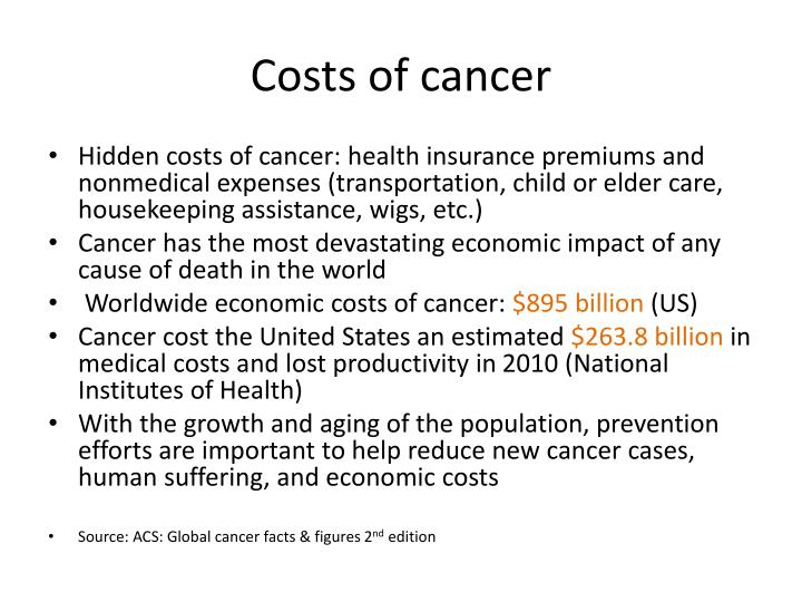 Costs of cancer