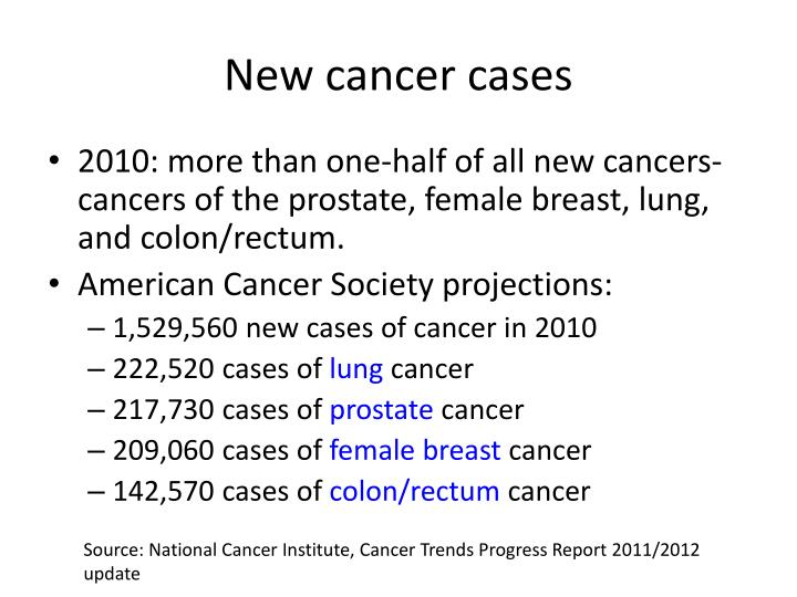 New cancer cases