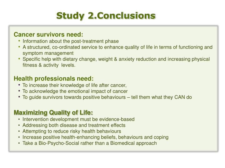 Study 2.Conclusions