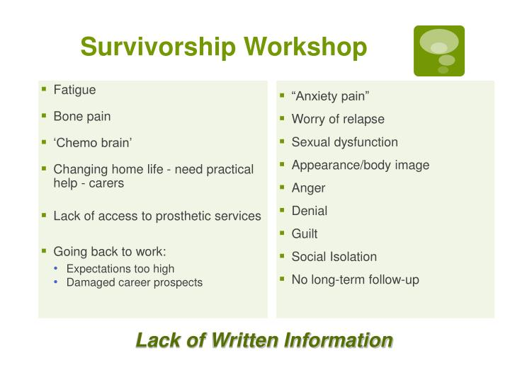 Survivorship Workshop