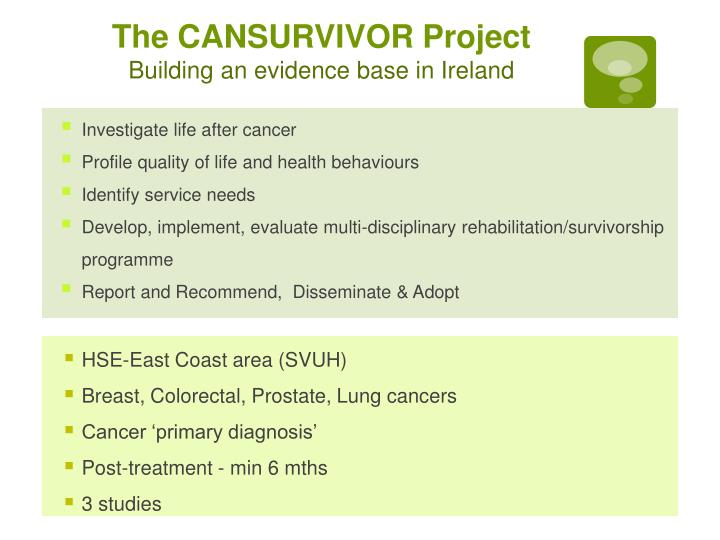 The CANSURVIVOR Project
