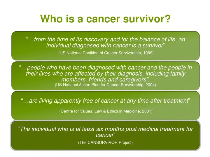 Who is a cancer survivor?