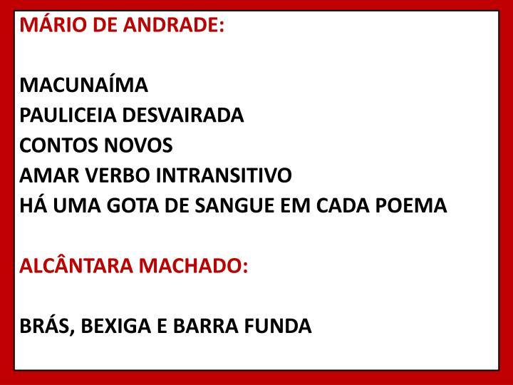 MÁRIO DE ANDRADE: