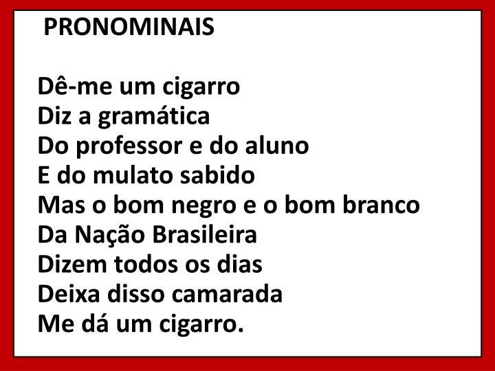 PRONOMINAIS