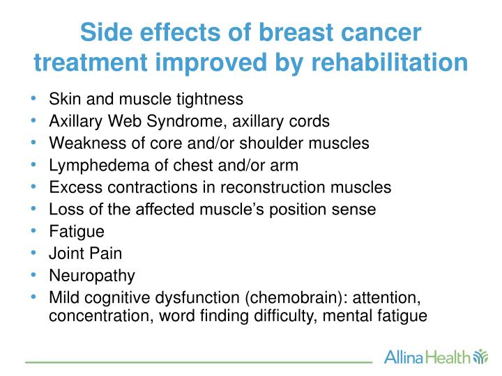 breast cancer the physical and mental effects When breast cancer metastasizes, or spreads, one of its most likely destinations  is bone in fact, four in five metastatic breast cancer patients.