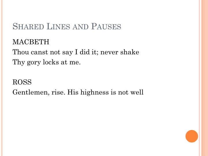 Shared Lines and Pauses