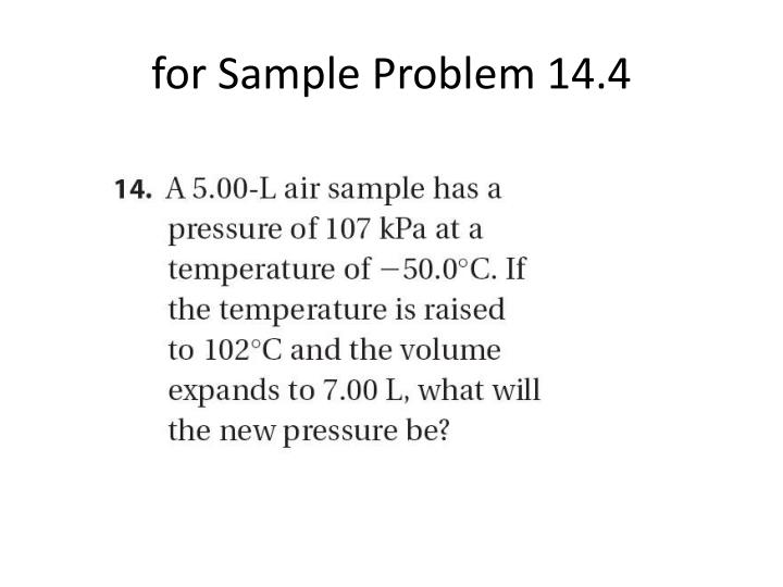 for Sample Problem 14.4