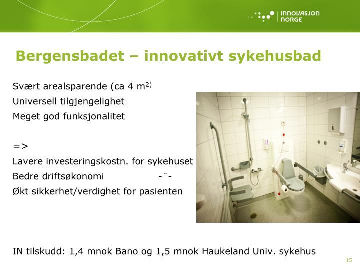 Bergensbadet – innovativt sykehusbad