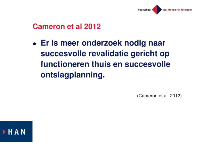 Cameron et al 2012