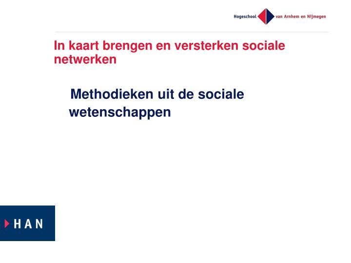 In kaart brengen en versterken sociale netwerken