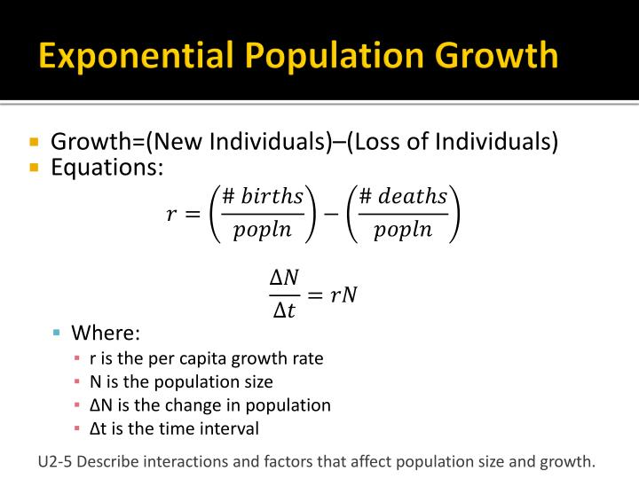 Exponential Population Growth