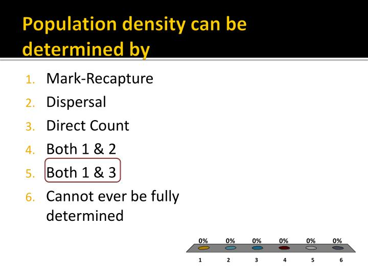 Population density can be determined by